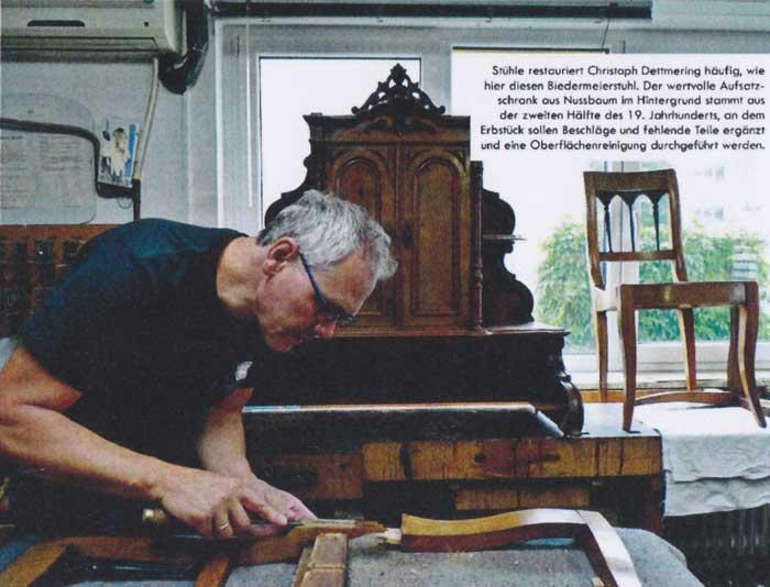 Christoph Dettmering konzentriert bei der Arbeit. Foto: Ulrike Frenkel